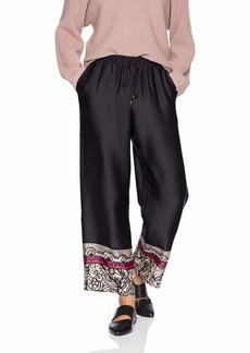 Trina Turk Women's Obsidian Printed Drawstring Wide Leg Pant Coqui Floral