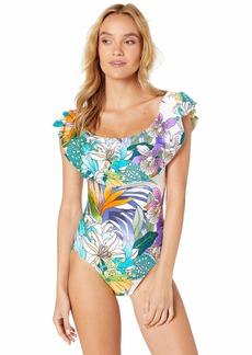Trina Turk Women's Off-The-Shoulder Bandeau One Piece Swimsuit