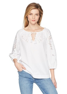 Trina Turk Women's Ojai Lace Embroidery Top