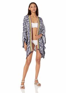 Trina Turk Women's Open Front Kimono Sleeve Beach Cover Up  ONE