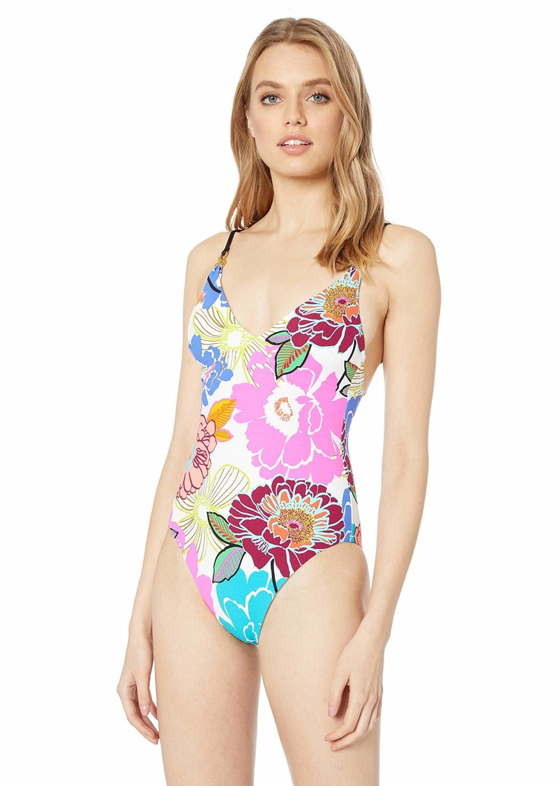 Trina Turk Women's Over The Shoulder One Piece Swimsuit