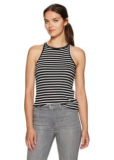Trina Turk Women's Palomo Striped Must Have Jersey Tank Black/White wash L