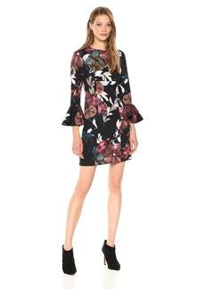 Trina Turk Women's Panache 2 Faye Floral Bell Sleeve Dress