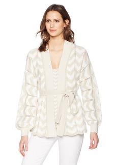 Trina Turk Women's Pine Sweater Sand/White wash