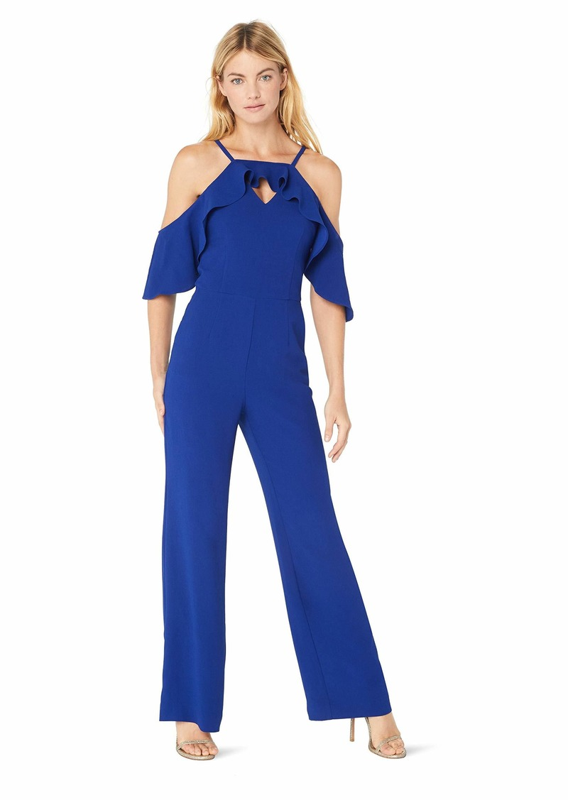 Trina Turk Women's Plaza Cold Shoulder Jumpsuit Blue iris
