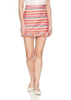 Trina Turk Women's Rico  Ruffle Hem Skirt