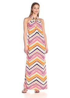 Trina Turk Women's Rile Piazza Zig Zag Matte Jersey Maxi Dress