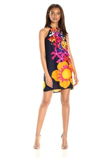 Trina Turk Women's Roe Placed Floral Rayon Dress