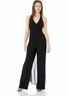 Trina Turk Women's Rossini Halter Jumpsuit with Chiffon