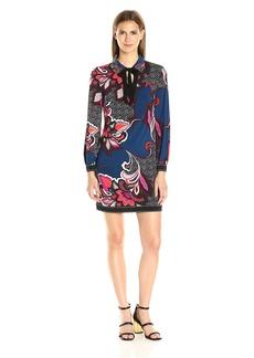 Trina Turk Women's Saga Ikebana Matte Jersey Dress  M