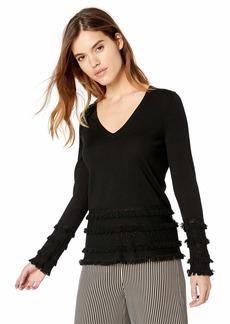 Trina Turk Women's Sass Fringed Sweater