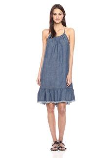 Trina Turk Women's Softly Chambray Halter Dress  S