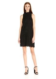 Trina Turk Women's Success Floral Embroidery Lace Sleeveless Swing Dress