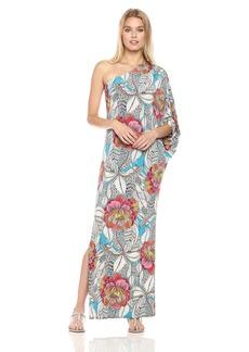 Trina Turk Women's Succulent via Lola Print One Shoulder Dress  M