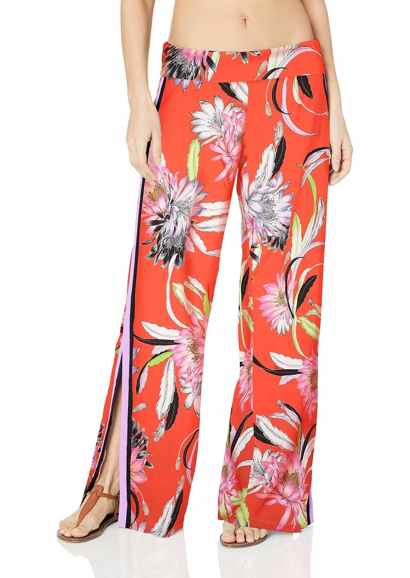 Trina Turk Women's Swimwear Beach Pant Cover Up Flame//Shangri la Floral