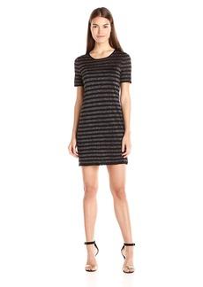 Trina Turk Women's Taylor Lurex Stripe Short Sleeve Sweater Dress