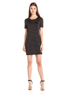 Trina Turk Women's Taylor Lurex Stripe Short Sleeve Sweater Dress