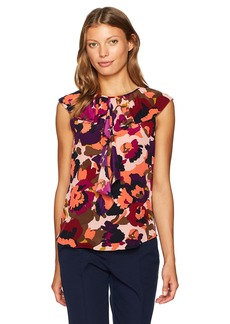Trina Turk Women's Thorn MacArthur Park Floral Printed Top  S
