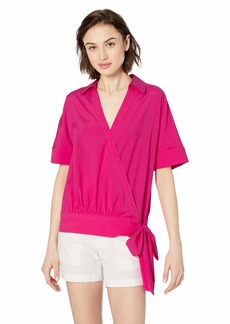Trina Turk Women's Tour Short Sleeve Wrap Top