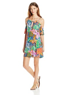 Trina Turk Women's Tropic Escape Off-The-Shoulder Tunic Cover up  XS