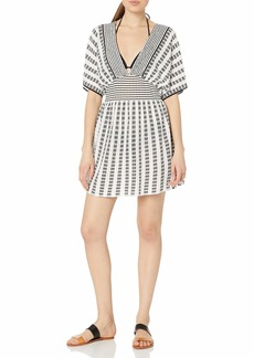 Trina Turk Women's V-Neck Tunic Cover Up Dress  S