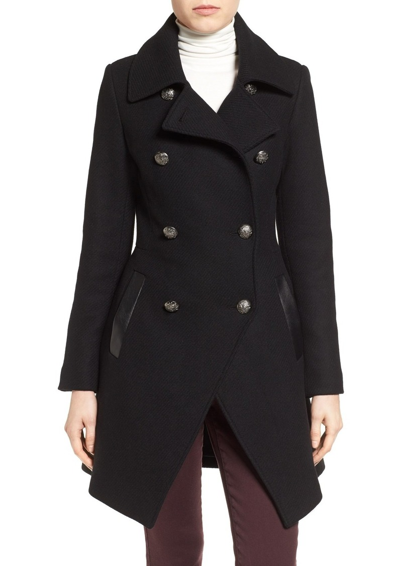 Trina Turk Wool Blend Military Coat (Regular & Petite)