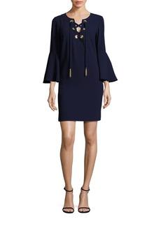Trina Turk Xandra Crepe Lace-Up Dress