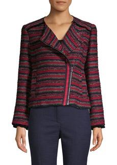 Trina Turk Yamato Knitted Cotton-Blend Jacket