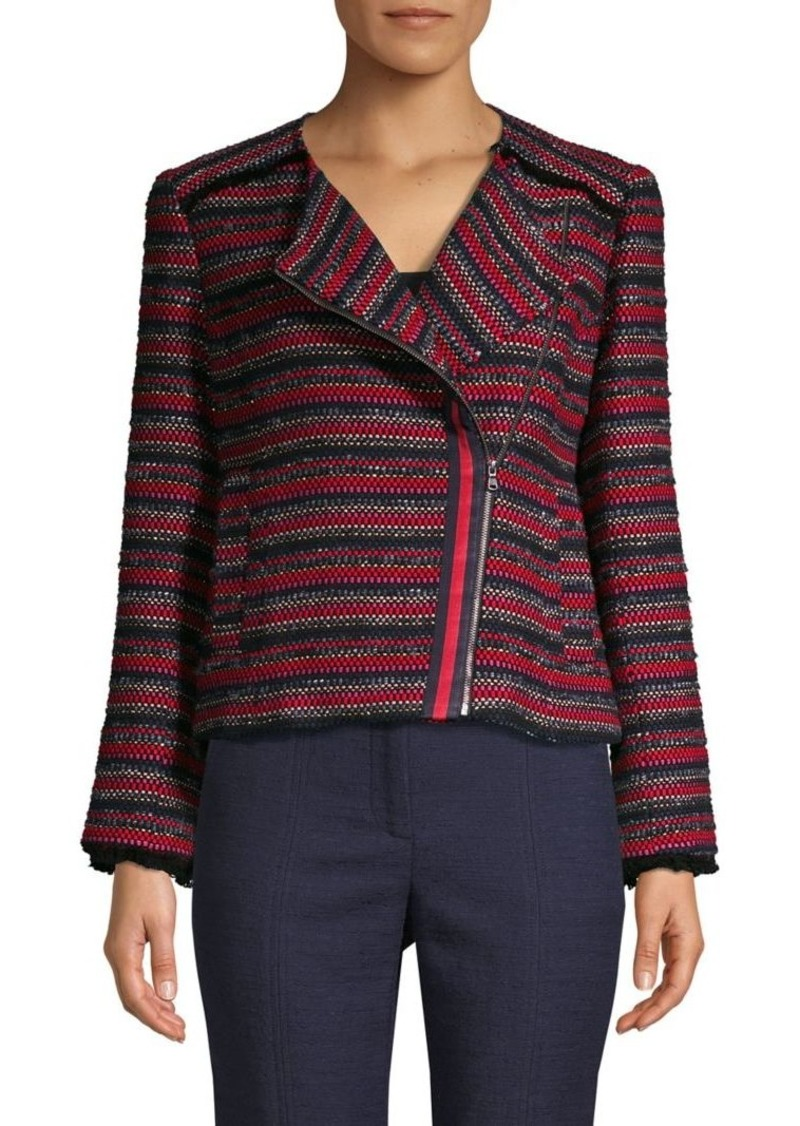 Trina Turk Yamato Knitted Cotton-Blend Jacket