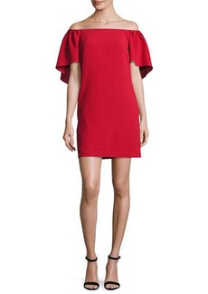 Trina Turk Zeal Crepe Off-the-Shoulder Mini Dress