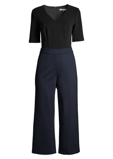 Trina Turk Tune Contrast Cropped Jumpsuit