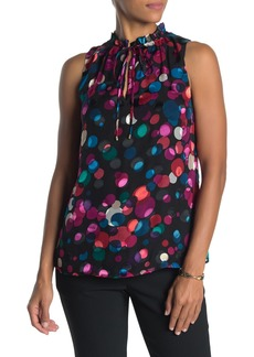 Trina Turk Verbenia Mock Neck Dot Print Tank Top