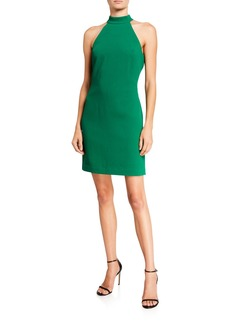 Trina Turk Wanderlust Crepe Halter Shift Dress