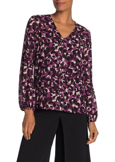 Trina Turk Welcome Long Sleeve Chiffon Blouse