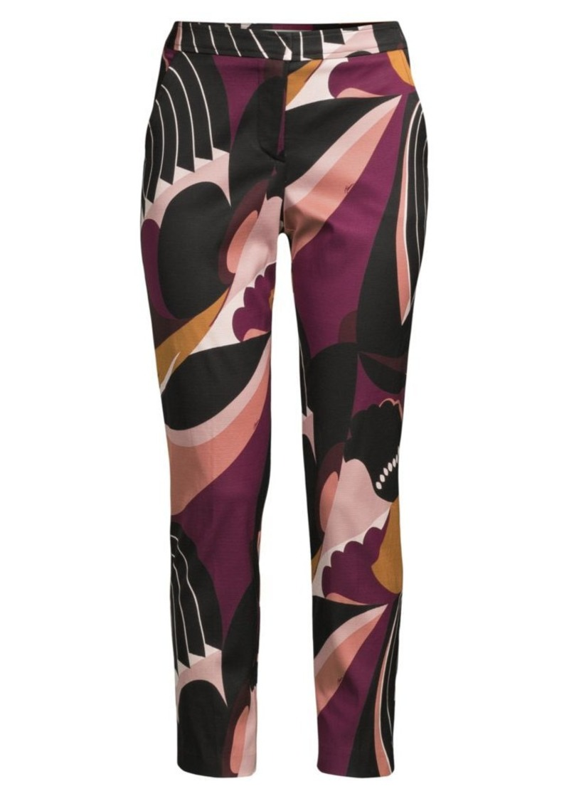 Trina Turk Wine Country Larkin Colorblock Floral-Print Pants