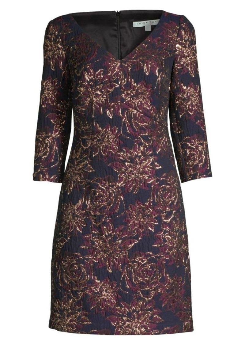 Trina Turk Wine Country Roussanne Floral Sheath Dress