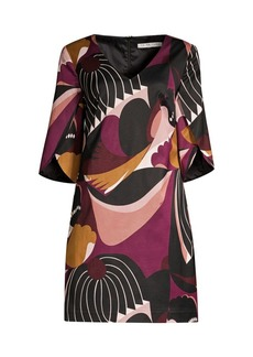 Trina Turk Wine Country Sonoma Patchwork-Print Shift Dress