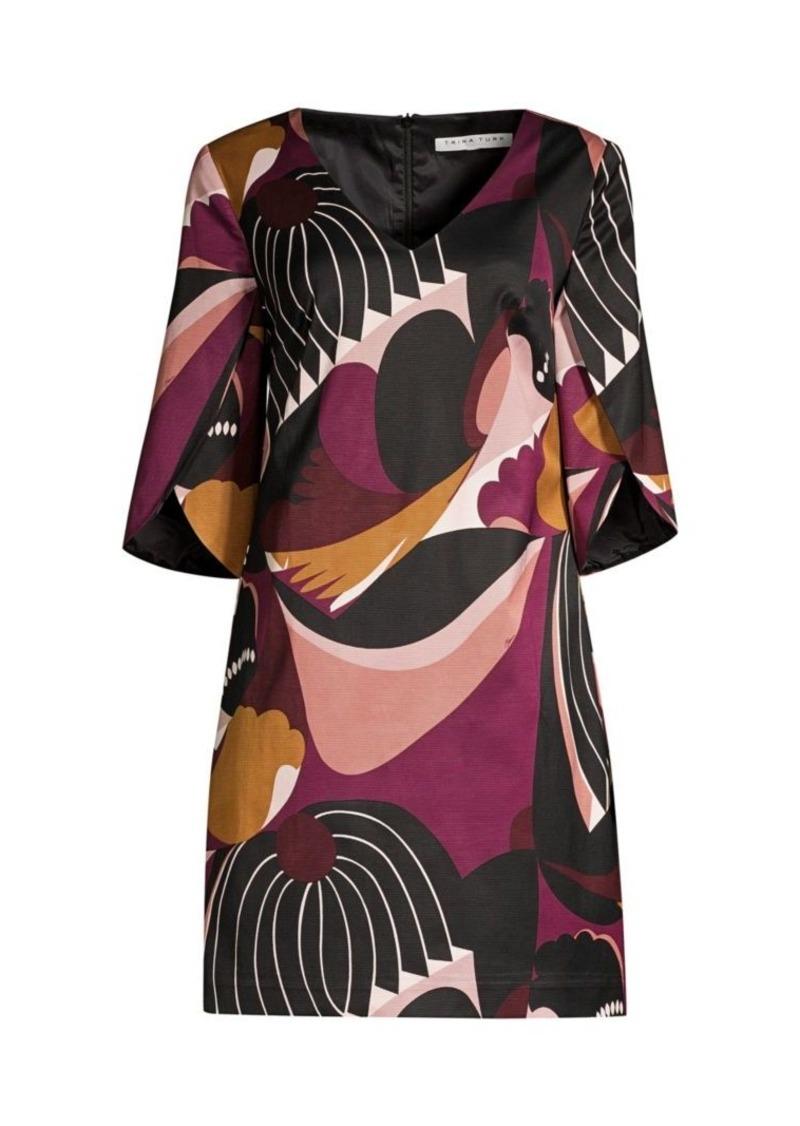 Trina Turk Wine Country Sonoma Patchwork-Print Shift Dress