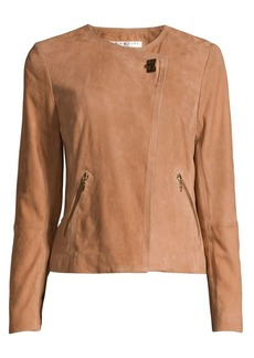 Trina Turk Wine Country Tannin Suede Jacket