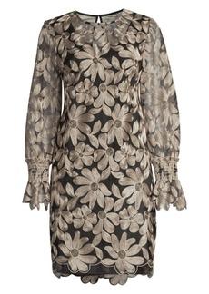 Trina Turk Wine Country Vinology Embroidery Sheath Dress
