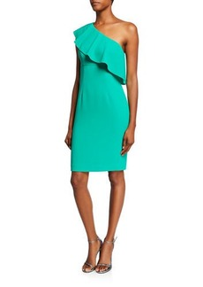 Trina Turk Wright One-Shoulder Ruffle Dress