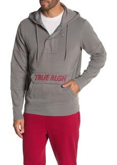 True Religion 1/4 Zip Pullover Hoodie