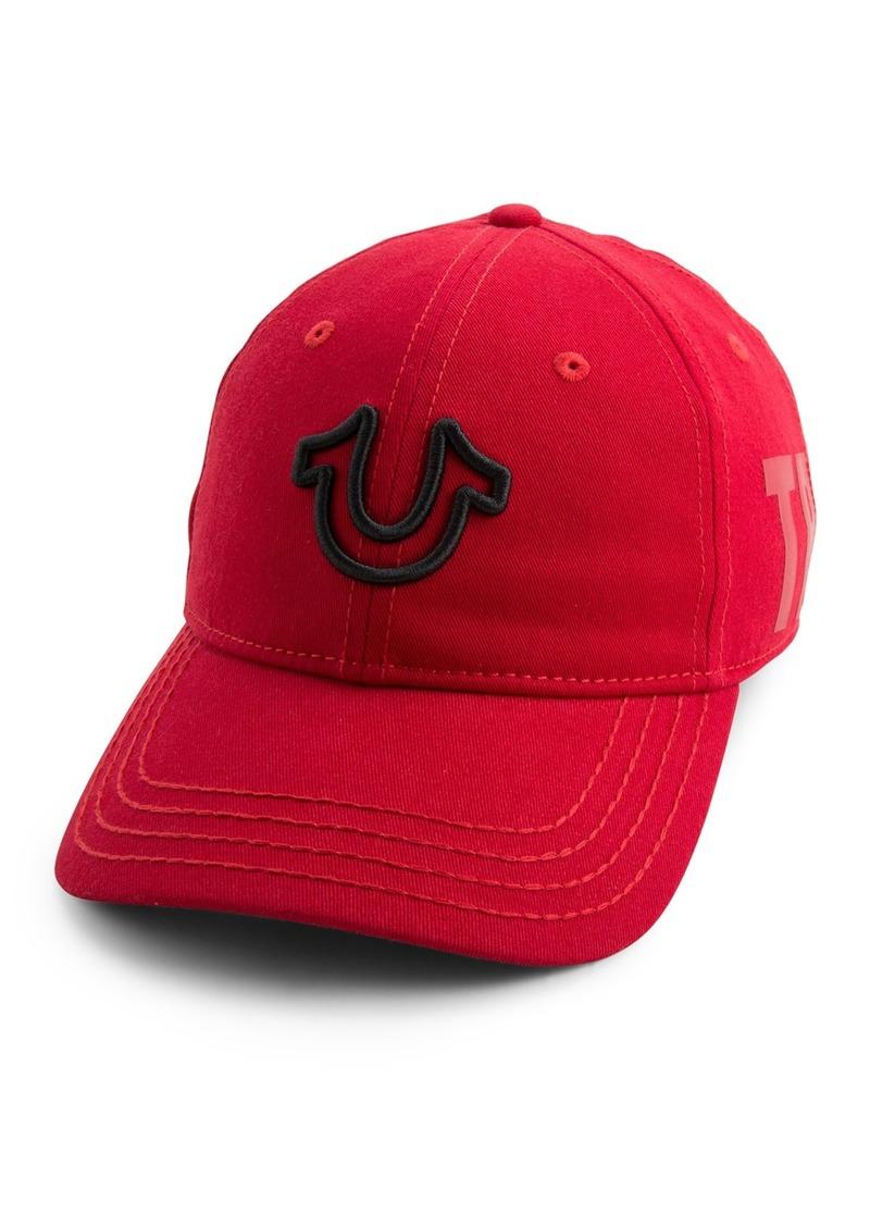 True Religion 3D Embroidered Horseshoe Baseball Cap