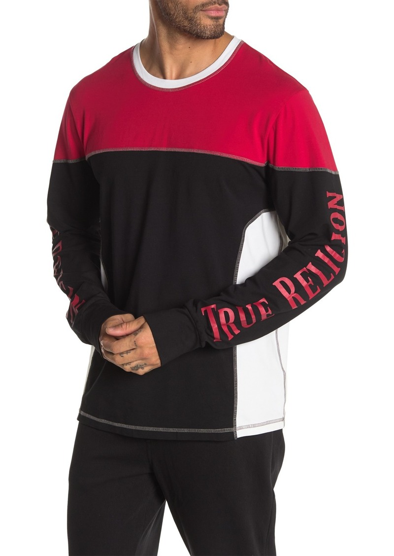 True Religion 90s Panel Long Sleeve Rugby T-Shirt