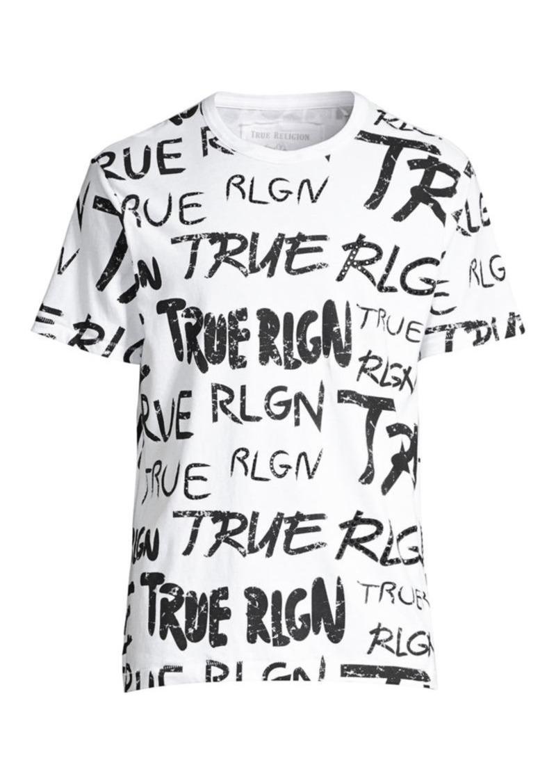 True Religion All Over Logo Graphic Tee