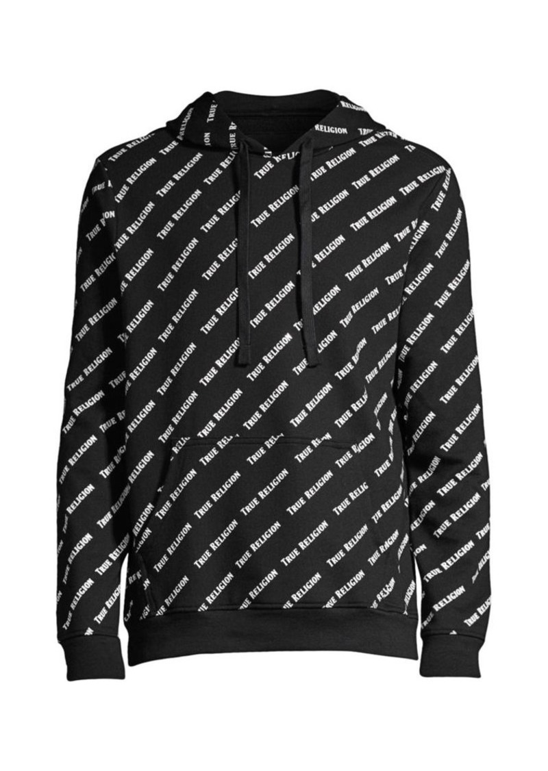 True Religion Allover Print Pullover Hoodie