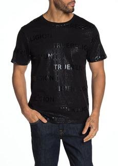 True Religion Allover Type Short Sleeve T-Shirt