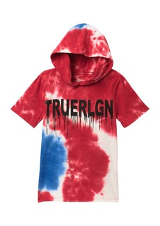True Religion American Tye Dye Hooded Tee (Big Boys)