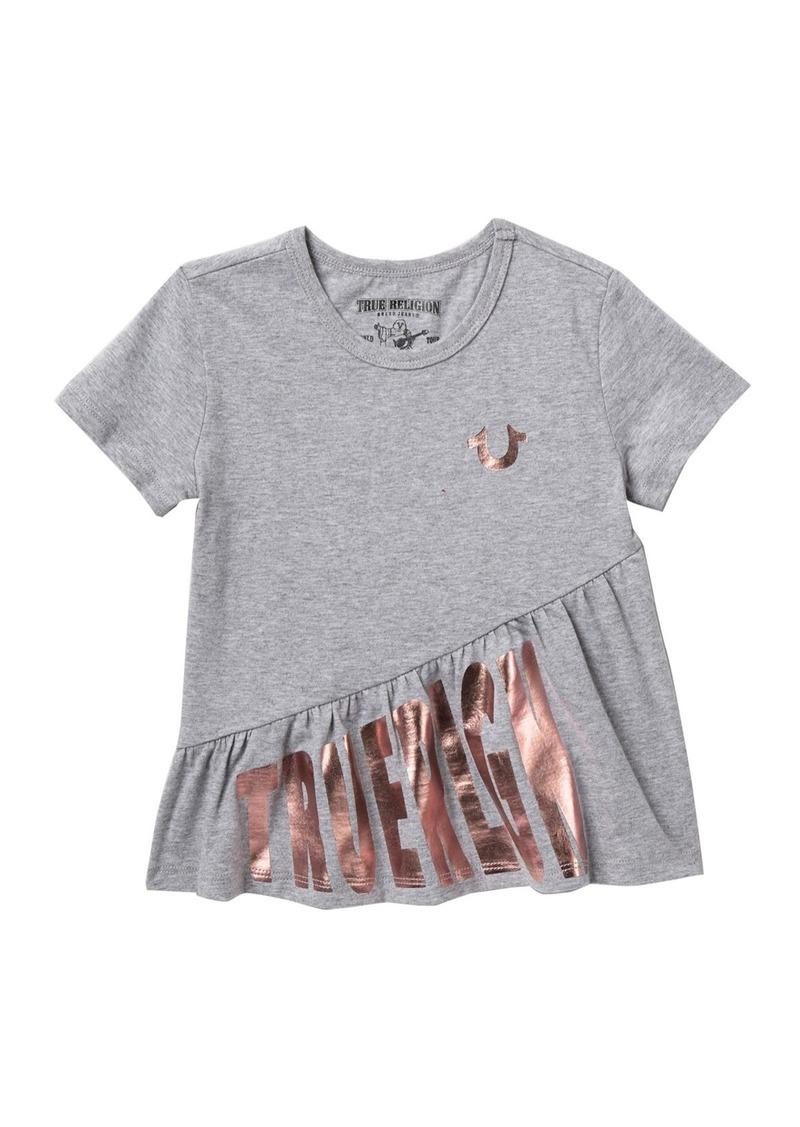 True Religion Asymmetrical Ruffle T-Shirt (Toddler & Little Girls)
