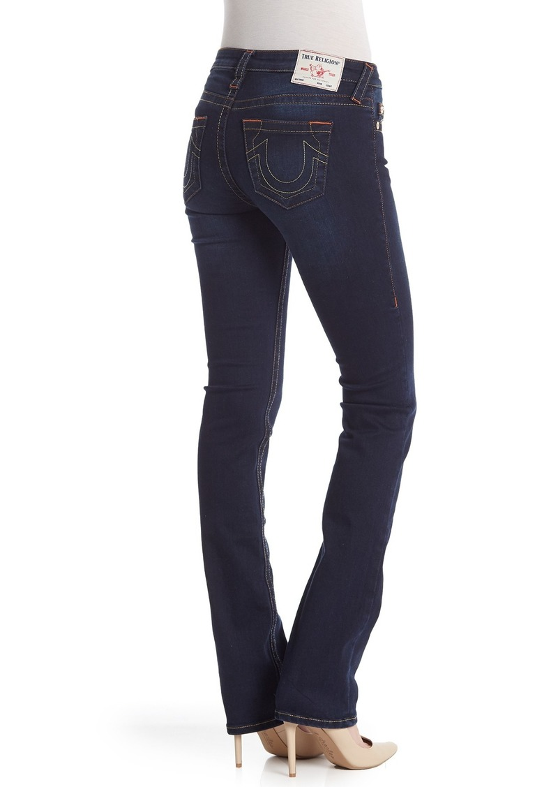 True Religion Bille Mid Rise Straight Leg Jeans